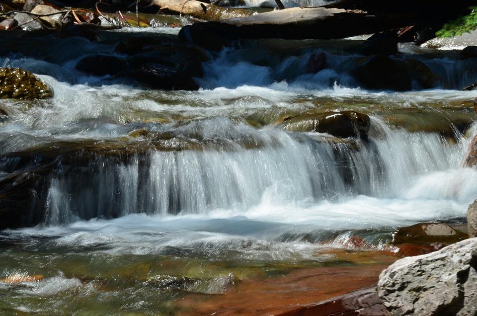 Waterfall, Wilderness, Rushing Water, Rocks, Flow