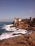 coastline, seashore, castle