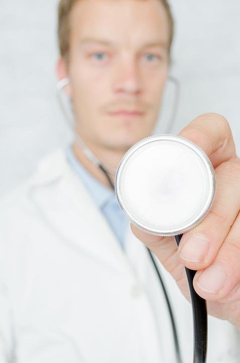 心臓, 人, 医者のカーディオ, 心臓病, チェック, 健康診断, クリーン, 臨床, クローズ アップ