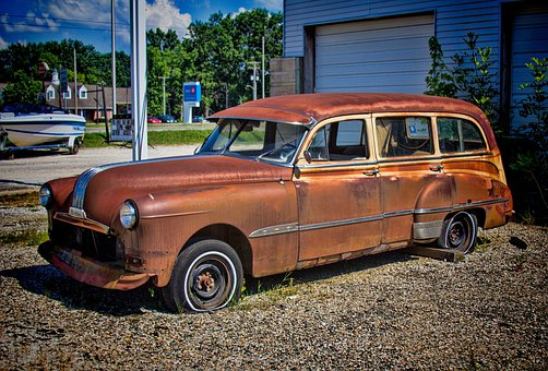 Car, Rusty, Rusted, Decay, Abandoned