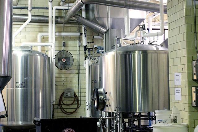 Free Photo Beer Brewery Metal Tanks Brewing Free