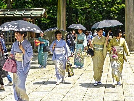 Giappone, Tokyo, Sorridente, Giapponese