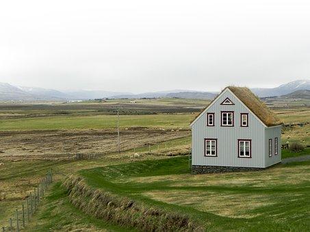 Iceland, Landscape, Nature, Grass, Green