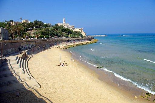 Jaffa Strand Israel Tel Aviv Urlaub Mittel