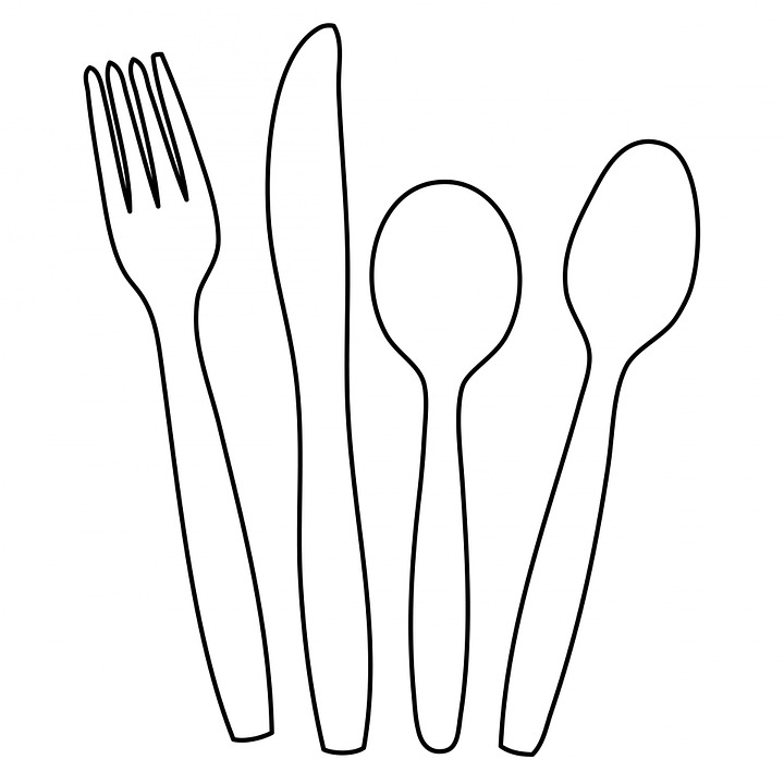 Line Drawing Knife And Fork : Cutlery knife fork · free image on pixabay