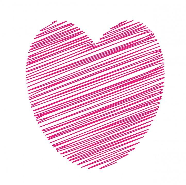 coeur rose art dessin 192 main 183 image gratuite sur pixabay