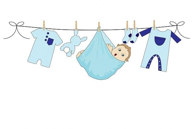kostenlose illustration  baby  junge  blau  kleidung  linie - kostenloses bild auf pixabay