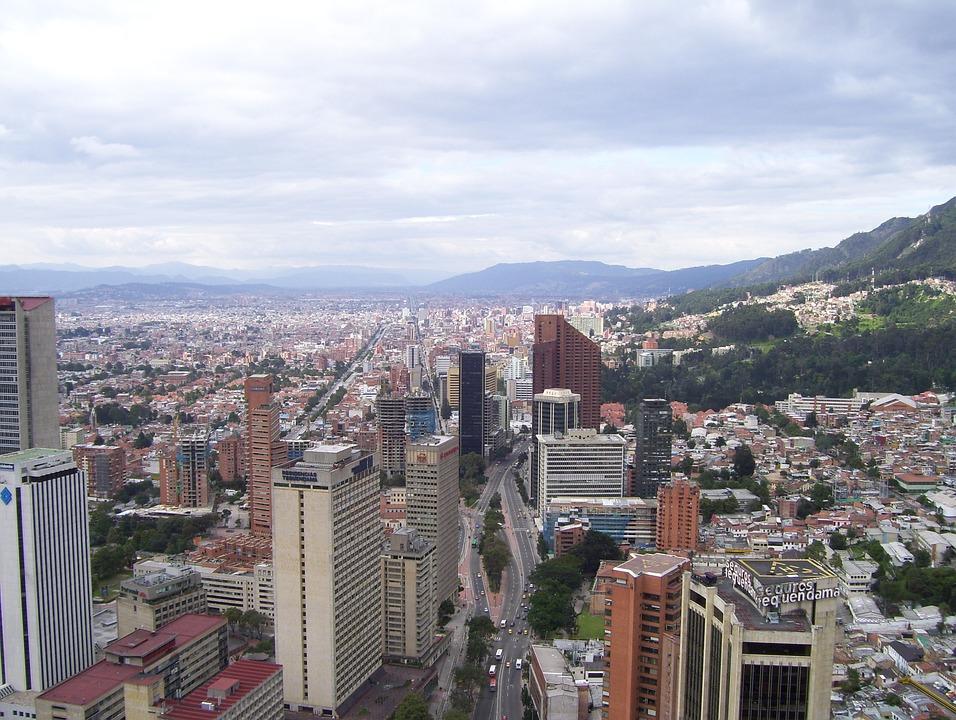 Bogota, Kolumbia, Architektura, Skyline, City