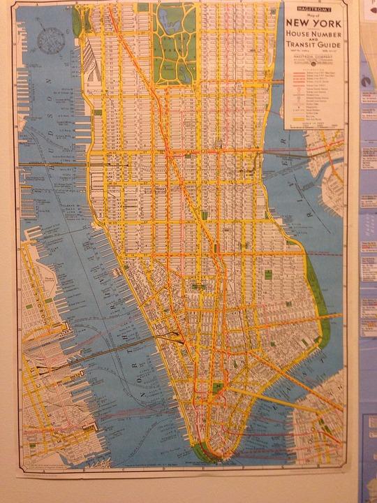 Kartta New York Nyc Ilmainen Valokuva Pixabayssa