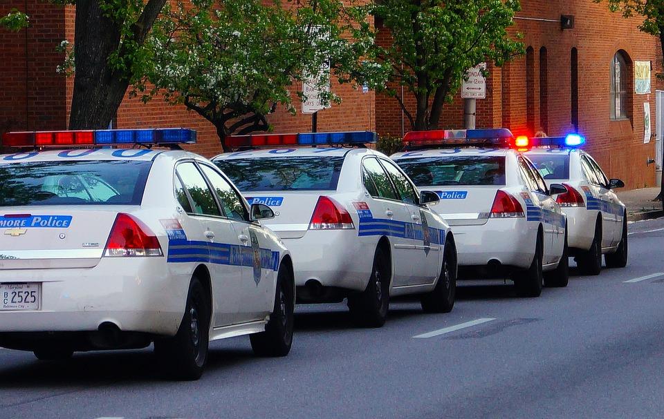 Des voitures de police.   Photo : Pixabay