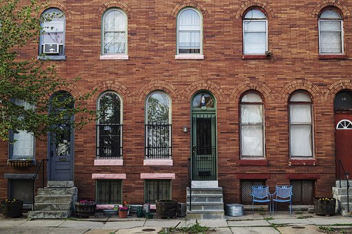 Rowhouse, Buildings, City, Baltimore