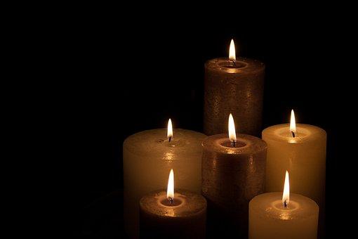 Candles, Spiritual, Dark, Light, Hot,