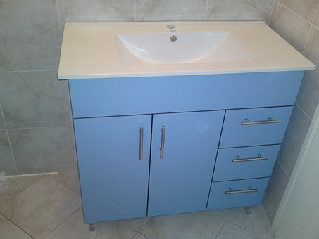 Bathroom, Cabinet, Sink, Faucet