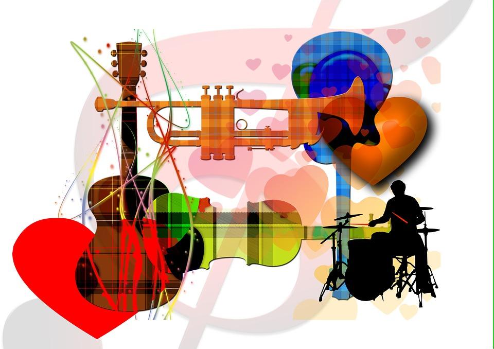Illustration gratuite: La Musique, Clef De Sol, Trompette ...