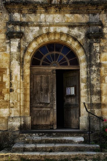 Free Photo Door Doorway Church France Wood Free
