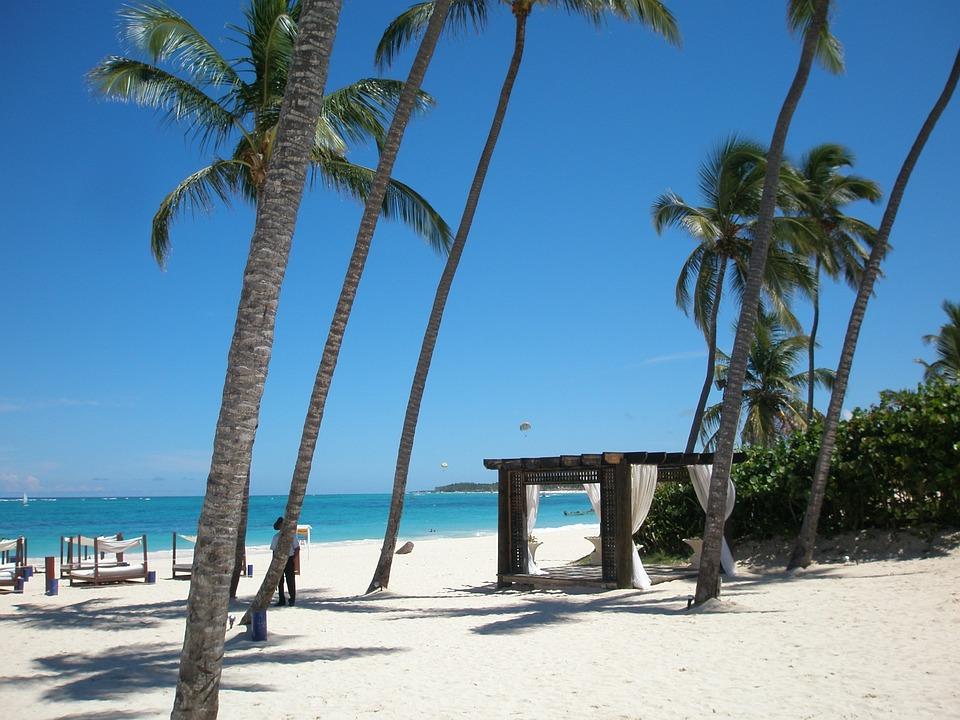 Dominikana, Plaży, Morze, Karaibów, Wakacje, Niebieski