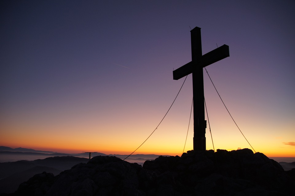 Free photo: Summit Cross, Peak Happiness