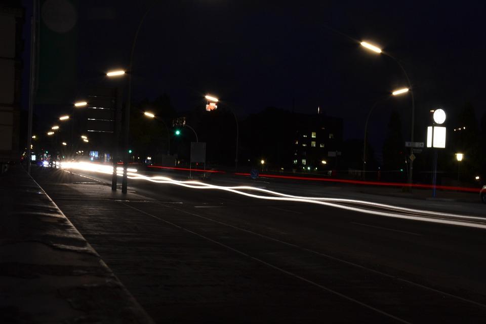 Hamburg Nacht Strasse Kostenloses Foto Auf Pixabay
