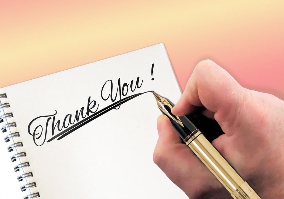 ありがとう, ラベル, 通信, 体験談, 手, ペン, 手書き, ノートブック, いたずら書き, 著者, 紙