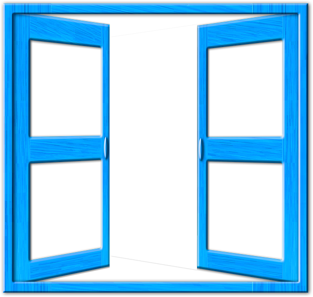 Open Window Clipart Clipart Suggest: Ilustração Gratis: Janela, Azul, Moldura, Aberto