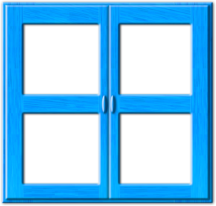 Illustration gratuite fen tre bleu ferm e cadre bois for Fenetre dos windows 7