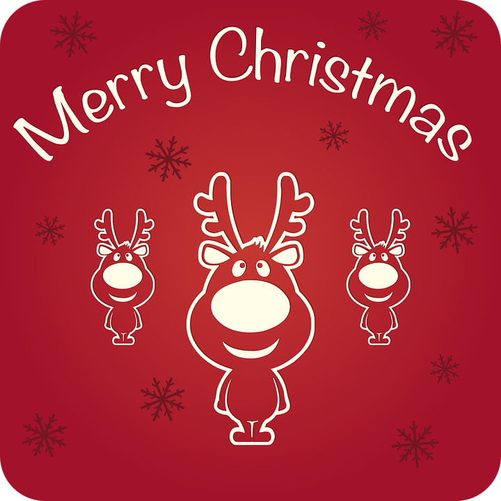 Merry Christmas Happy Holidays Free vector graphic on Pixabay