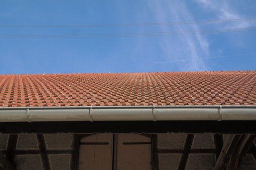 Roofing, Gutter, Roof, Barn, Scheuer