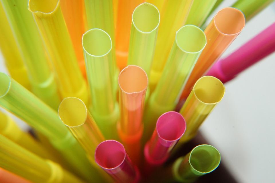 Słoma, Słomka, Makro, Kolorowy, Kolory Neonowe