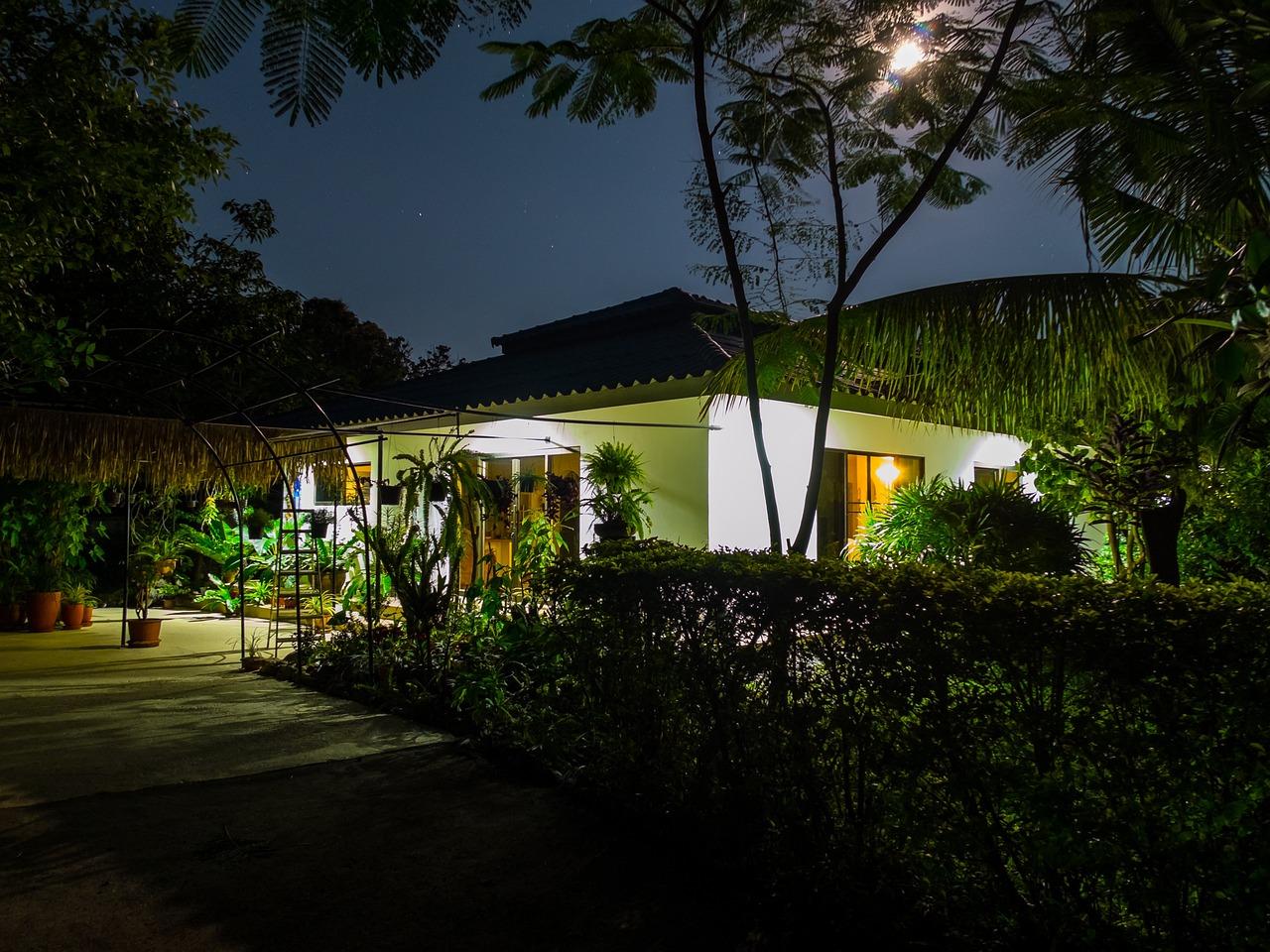 Full Moon Night House Garden Free Photo On Pixabay