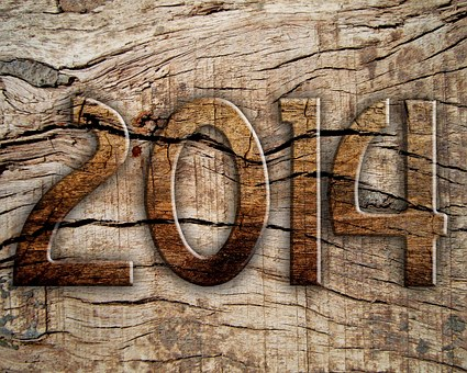 The year 2014 etched in wood for top 100companies for remote jobs in 2014