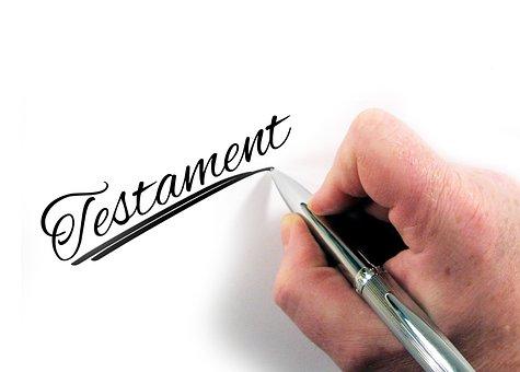 Testamento Mano Deja Pluma Papel Cartas Le