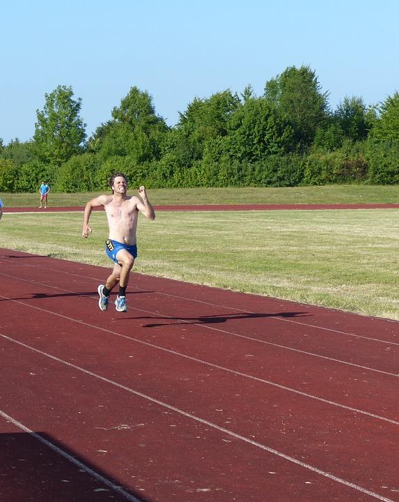 陸上競技, スポーツ, レース, 100 メートル実行, スプリント, 実行中のスポーツ, 燃えがら