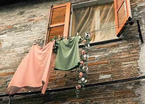 服のライン, ウィンドウ, 要塞, 歴史的に, イタリア, アンティーク