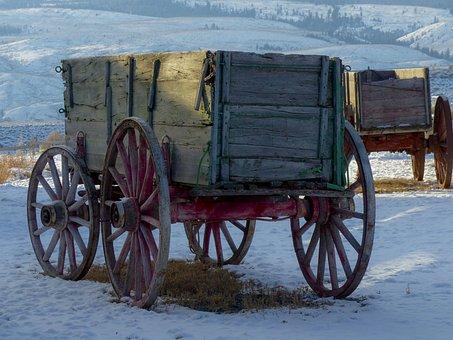 车皮, Deadman, 牧场, 古代, 建筑物, 木, 西方风格, 狂野西部