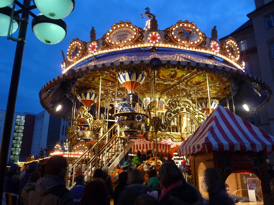 Carousel, Year Market, Ride, Christmas Market