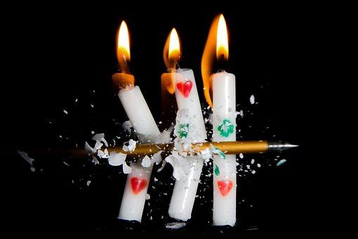 Kerze, Licht, Flammen, Feuer, Brennen