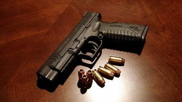 Handgun Firearms Pistol Gun Weapon Bullets