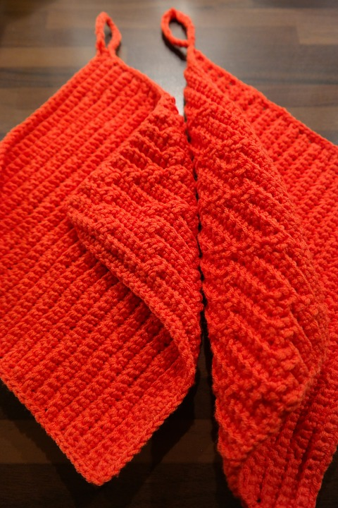 Oven Mitts Red Crochet Free Photo On Pixabay