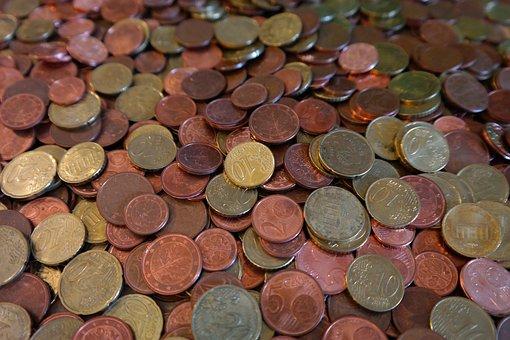Münzen, Cent, Hartgeld, Geld, Euro