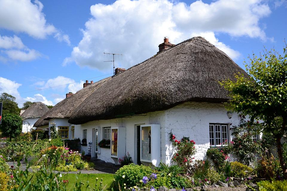 Irland, Haus, Sommer