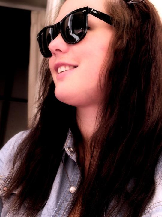 En Pelo Sol Chica Gratis Largo De Gafas Foto Pixabay QCdxreBoWE