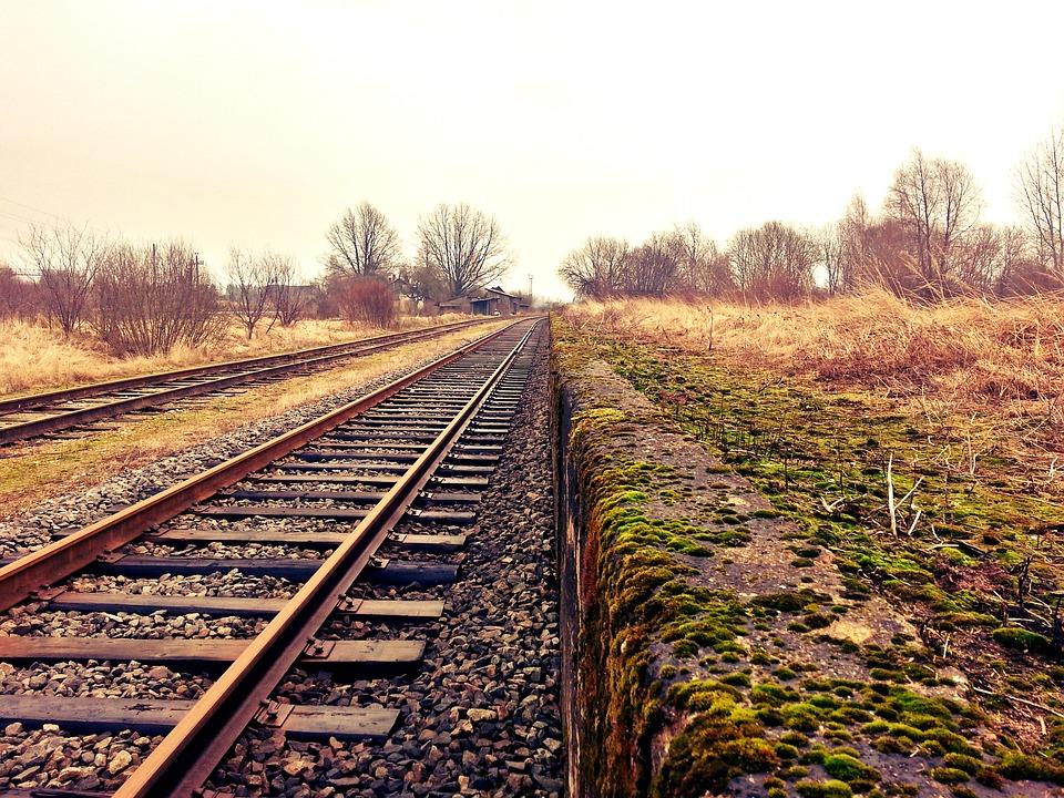 レール, 鉄道, 列車のトラック, 交通, トラック, Hdr