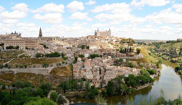 Toledo España Río Tajo Vista Toledo Toledo