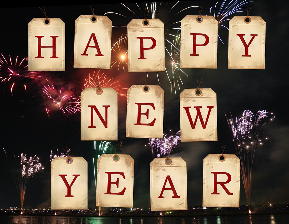 Fireworks, Happy New Year, New Year'S Eve, Tags, Labels