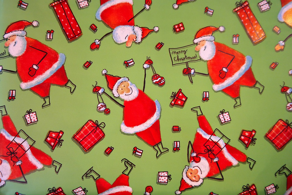 Free photo: Wrapping Paper, Santa Clauses - Free Image on Pixabay ...