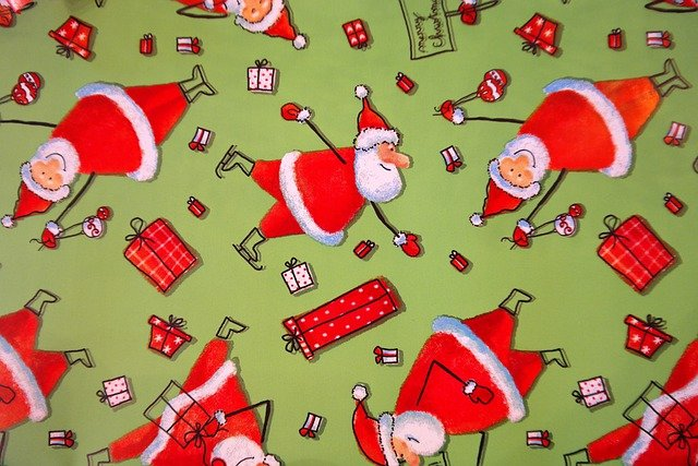 Wrapping Paper Santa Clauses Funny 183 Free Photo On Pixabay