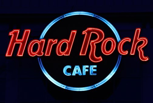 Hard Rock Cafe, Neon, Advertising