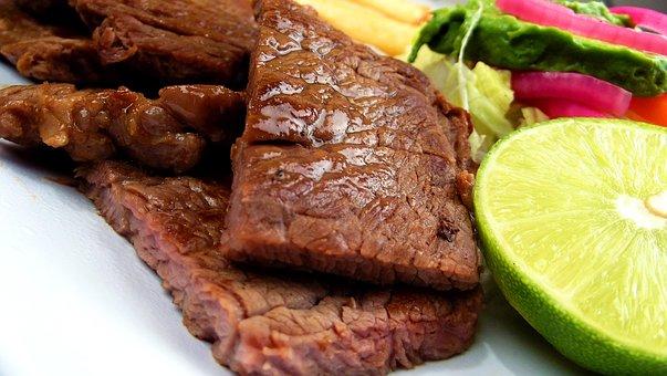 肉, ステーキ, 浅田, プレート, 食品, 牛肉, グリル, 食事
