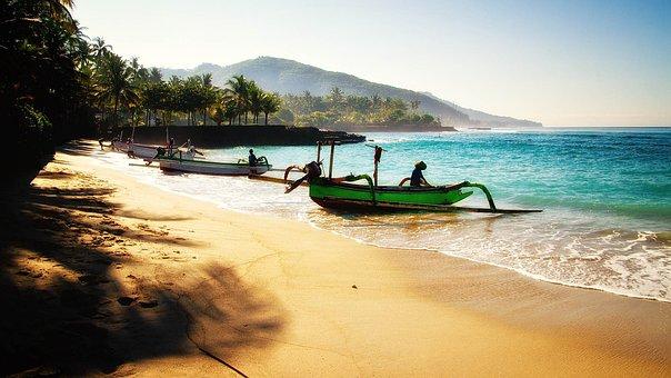 Bali, Beach, Travel, Boats, Vacations