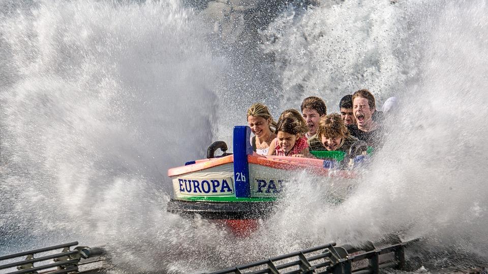游乐园, 欧罗巴岛公园, 船, 公园, 水滑梯, 水, 注入, 乐趣, 儿童